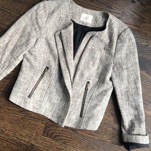 LOFT Blazer with Exposed Zippers